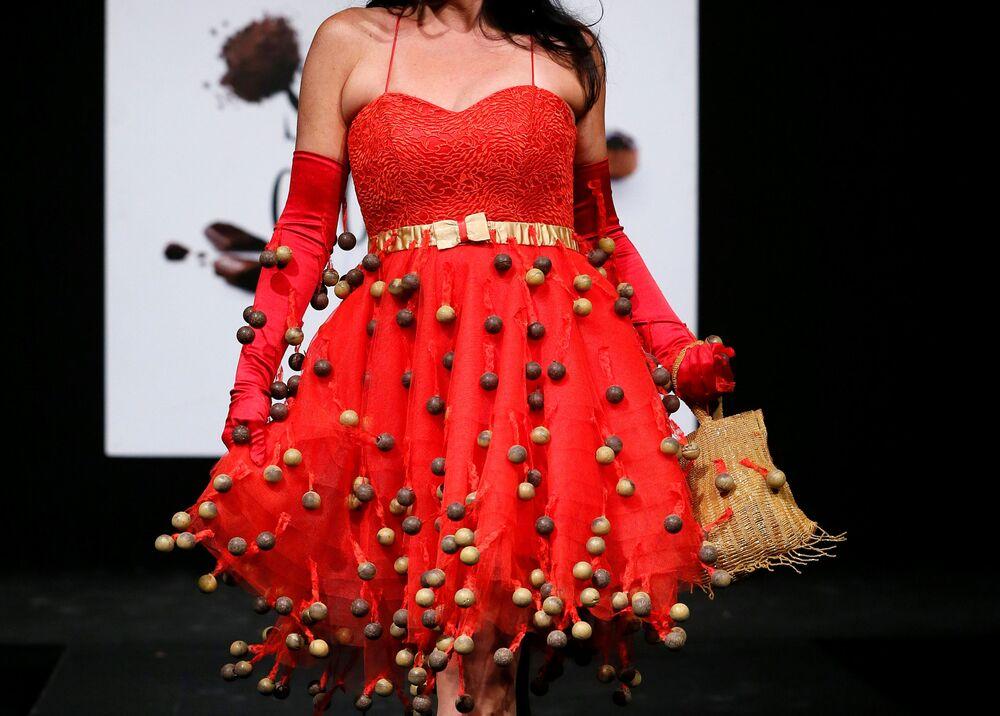Défilé de robes en chocolat à Bruxelles