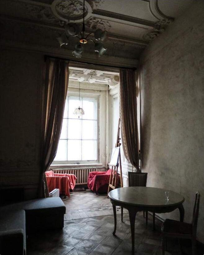 Un appartement communautaire à Saint-Pétersbourg, Russie.