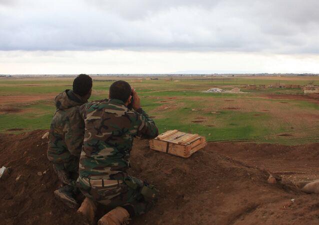 Les forces gouvernementales dans la région d'Al-Bab
