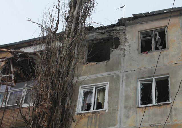 La ville de Donetsk pilonnée par l'armée ukrainienne