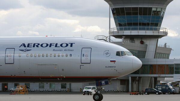 Un avion d'Aeroflot à l'aéroport Cheremetievo de Moscou - Sputnik France