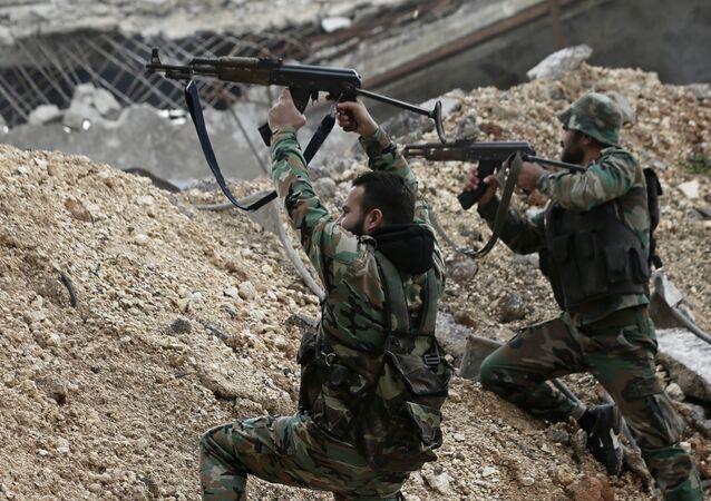Soldats de l'armée syrienne