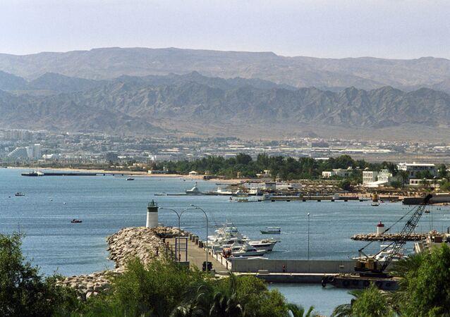 Ville d'Aqaba, en Jordanie