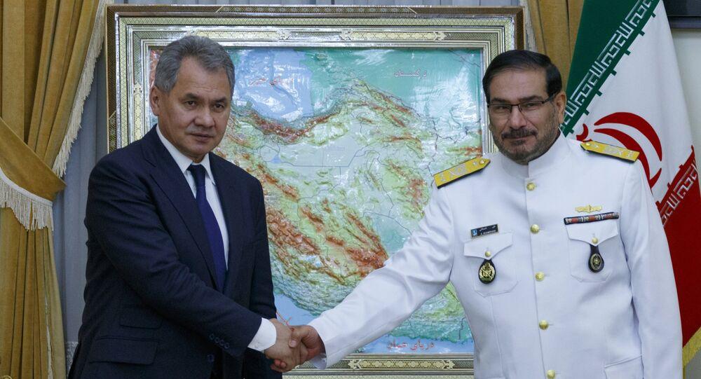 Le ministre russe de la Défense Sergueï Choïgou et le secrétaire du Conseil suprême de sécurité nationale Ali Shamkhani. Archive photo