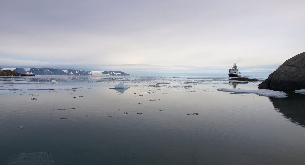 Le navire allemand RV Polarstern au large du Greenland