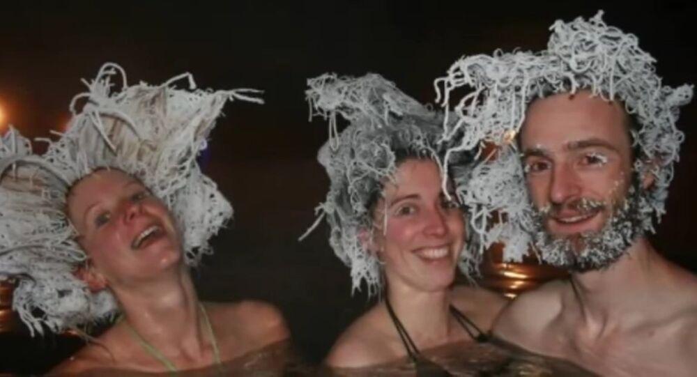 Coupe de cheveux gelés