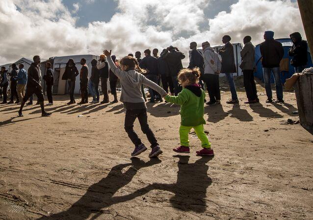 Migrants à Calais, en France