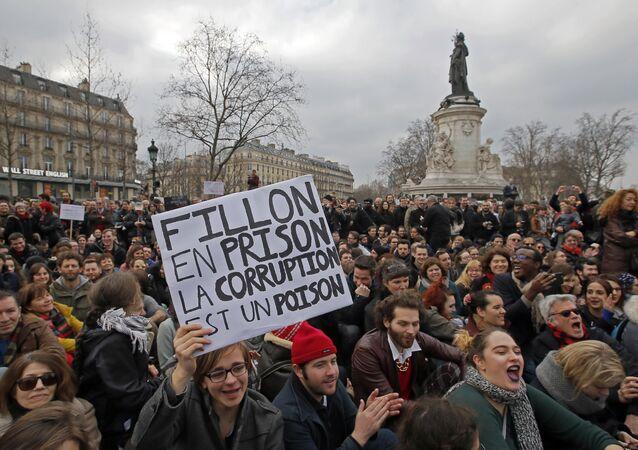 Manifestation contre la corruption des élus