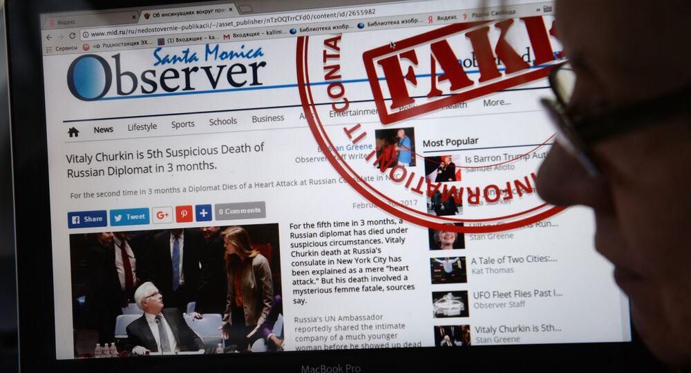 Le site de la diplomatie russe démasquera les «fake news» des médias étrangers