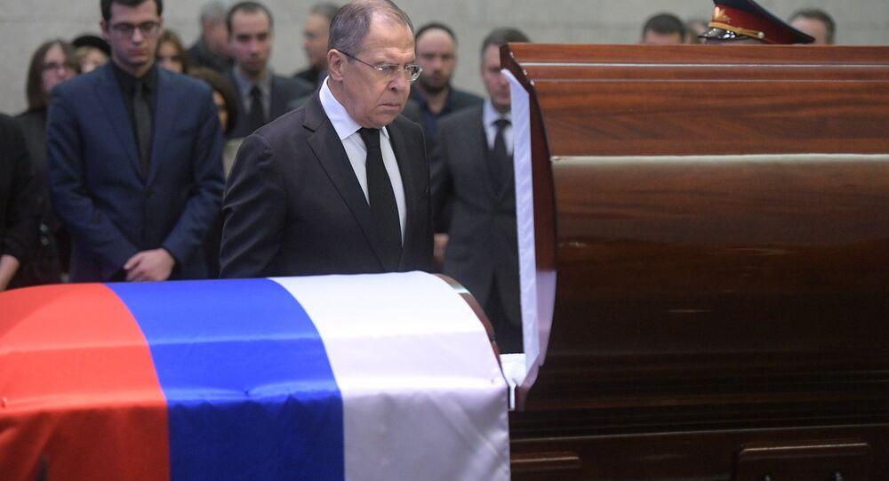 La cérémonie en l'honneur de l'ambassadeur russe à l'Onu Vitali Tchourkine