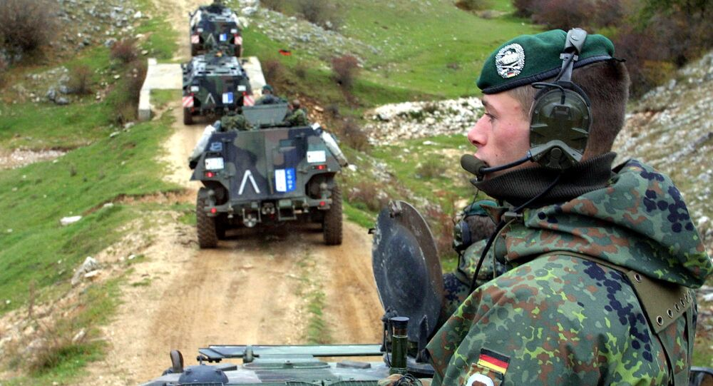 Troupes de la Bundeswehr en 2001. Image d'illustration