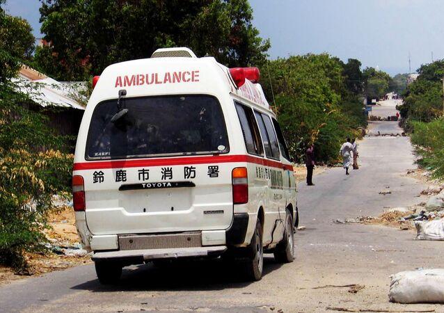 Une ambulance, Somalie