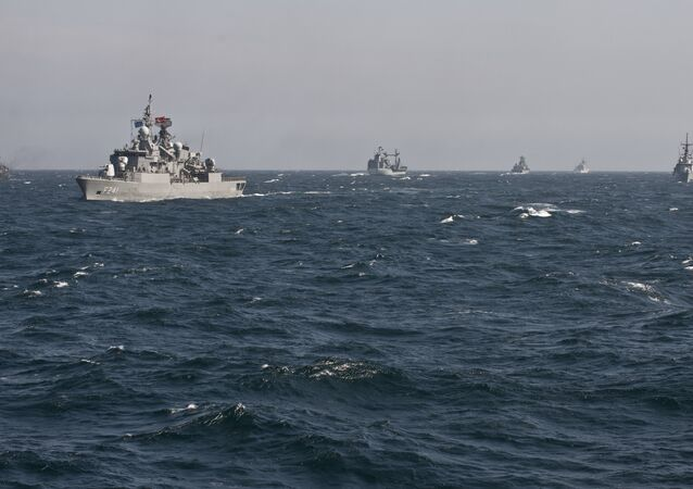War ships of the NATO Standing Maritime Group-2 take part in a military drill on the Black Sea. (File)