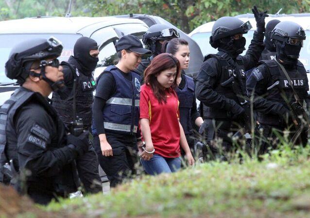 Siti Aisyah, une Indonésienne de 25 ans (C)