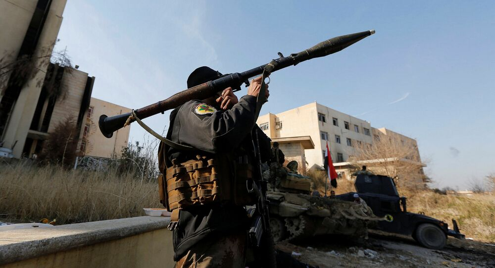 Militaire irakien à Mossoul