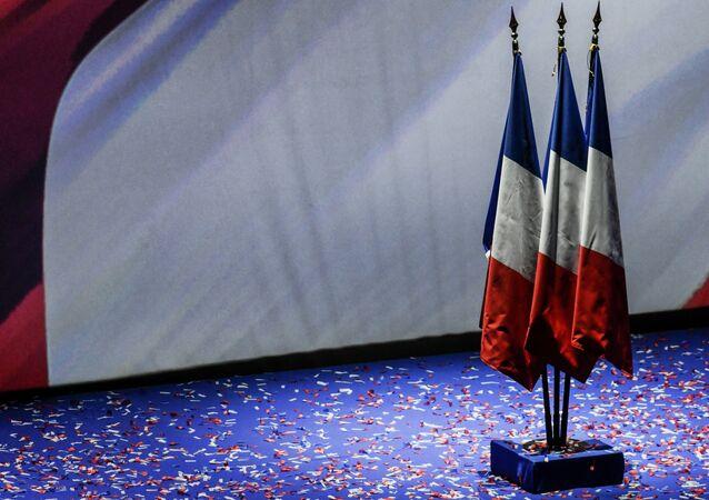 Drapeaux français. Image d'illustration