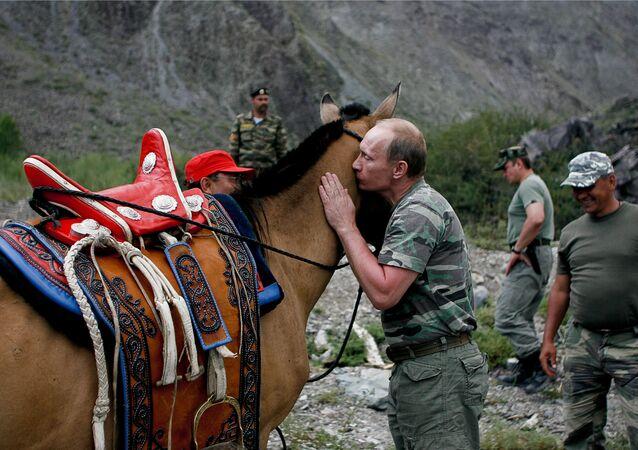 Vladimir Poutine en république de Touva