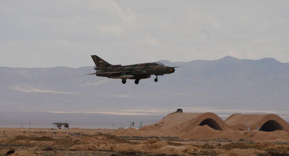 L'avion de l'armée de l'air syrienne