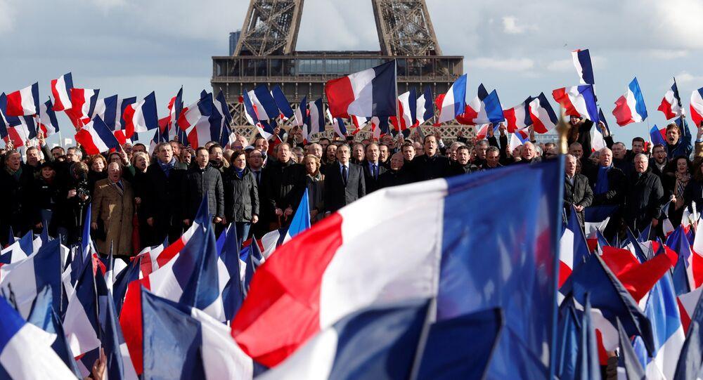 Rassemblement en soutien à Fillon place du Trocadéro