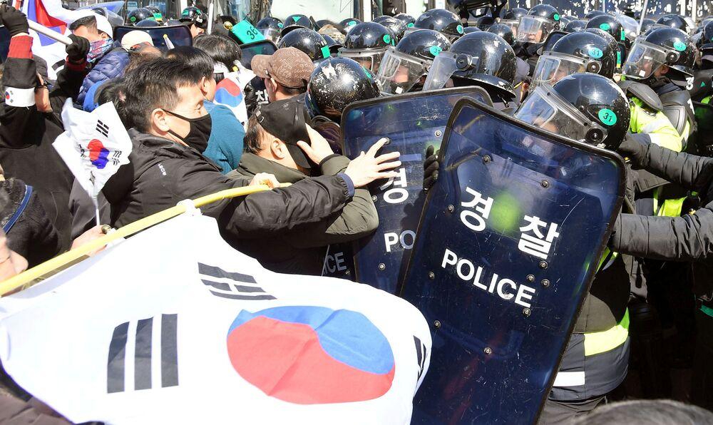 Désordres à Séoul