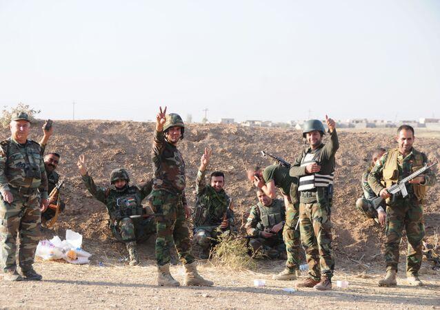 Des combattants peshmergas