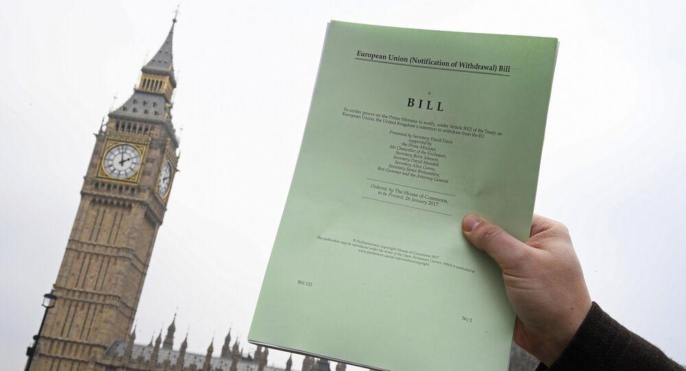 une copie de l'article 50 sur le Brexit