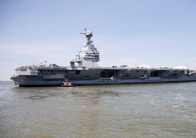 Le porte-avions américain Gerald R. Ford