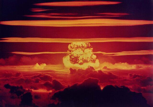 Essai nucléaire par les États-Unis. Archive photo