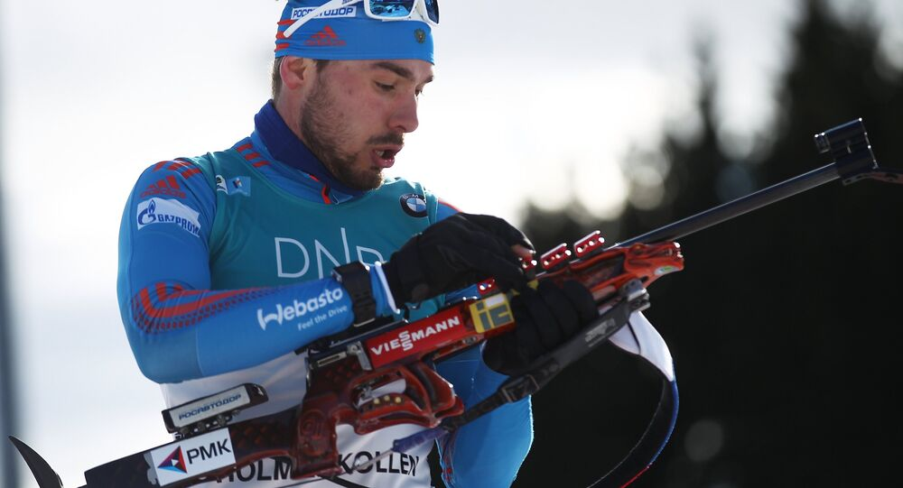 Anton Shipulin lors de la poursuite 12,5 km à Oslo