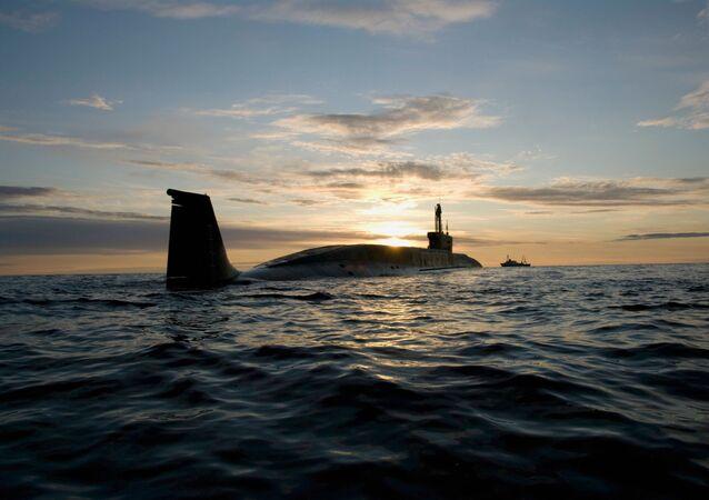 Sous-marin russe de classe Boreï. Image d'illustration