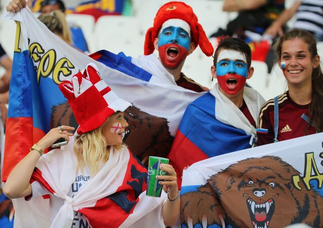 Les fans de football russes
