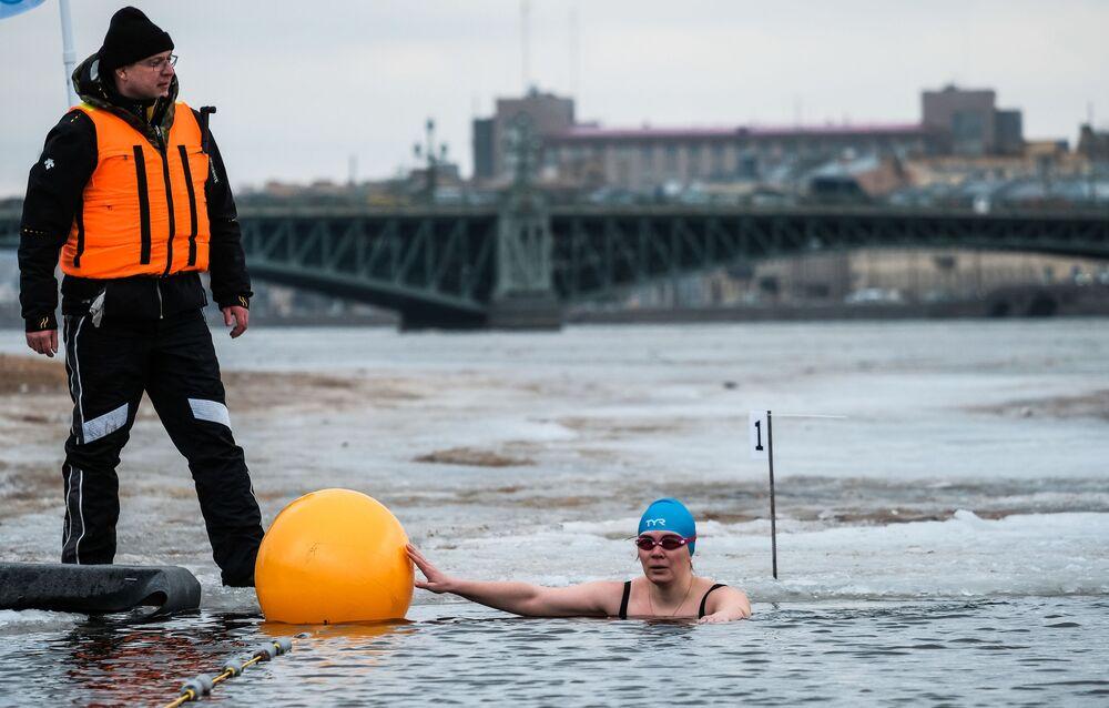 Le festival de natation hivernale de Saint-Pétersbourg
