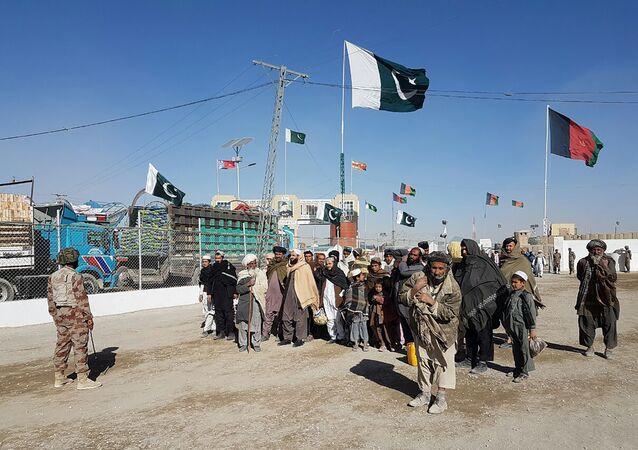 La frontière pakistano-afghane. Archive photo