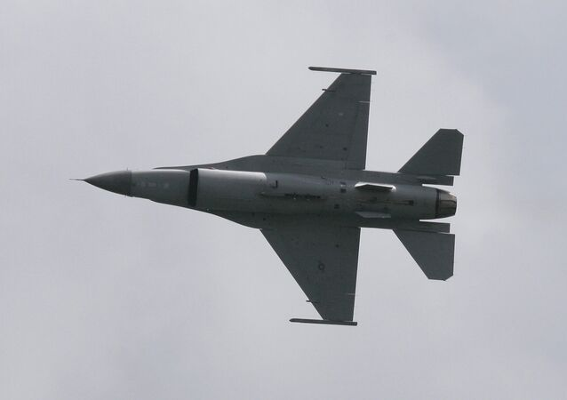 An F-16 Fighting Falcon.