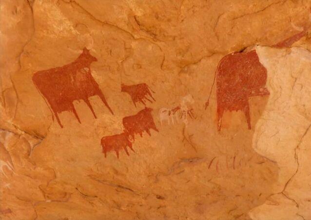 Les peintures rupestres du site d'Archei, au Tchad, datant de 4.000 av. J-C
