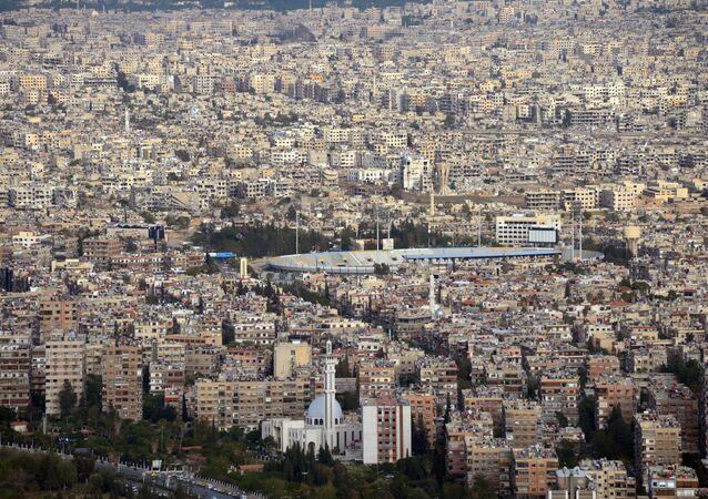 Vue sur Damas depuis le mont Qassioun.