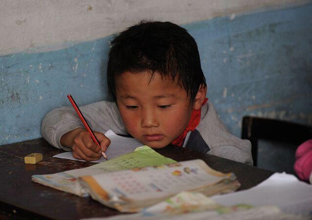 Un écolier chinois (image d'illustration)