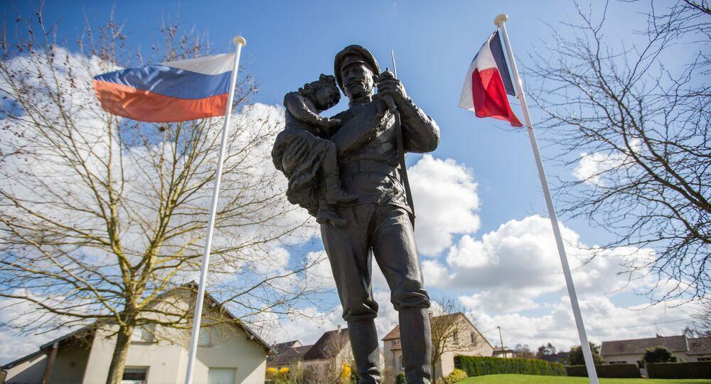 Le monument aux soldats du Corps expéditionnaire russe à Courcy