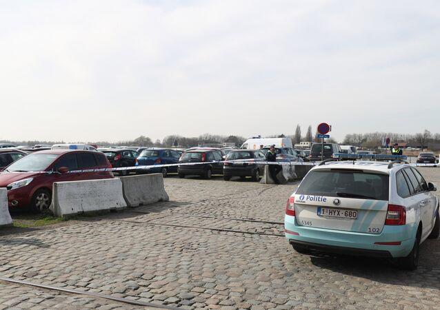 La police belge dans la ville d'Anvers