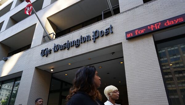 An October 12, 2015 photo shows the front of the Washington Post building. - Sputnik France