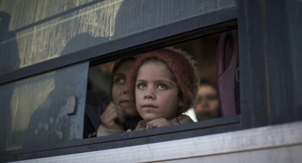 Une jeune réfugiée irakienne