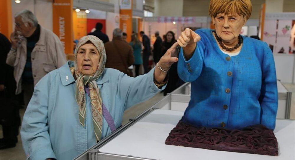 effigie d'Angela Merkel