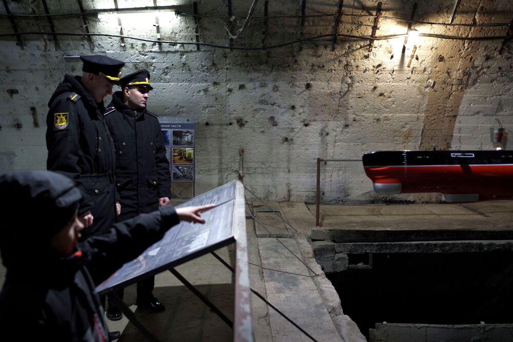 L'exposition consacrée à l'anniversaire de la 14e division des sous-marins de la Flotte de la mer Noire