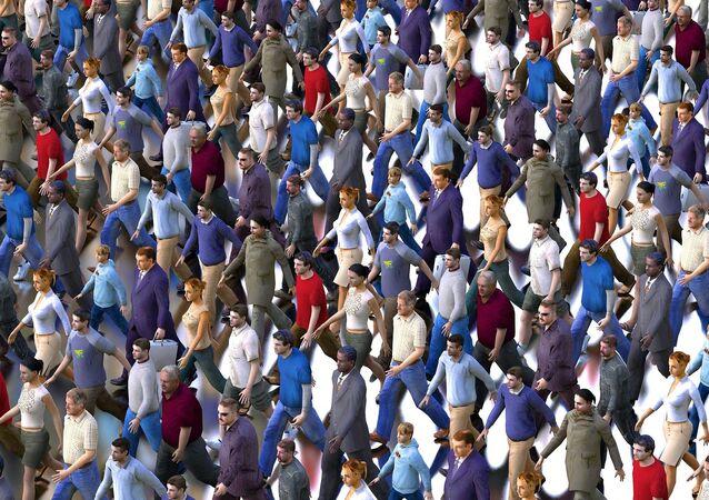 Une foule. Image d'illustration