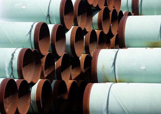 Les tuyaux pour l'oléoduc Keystone XL