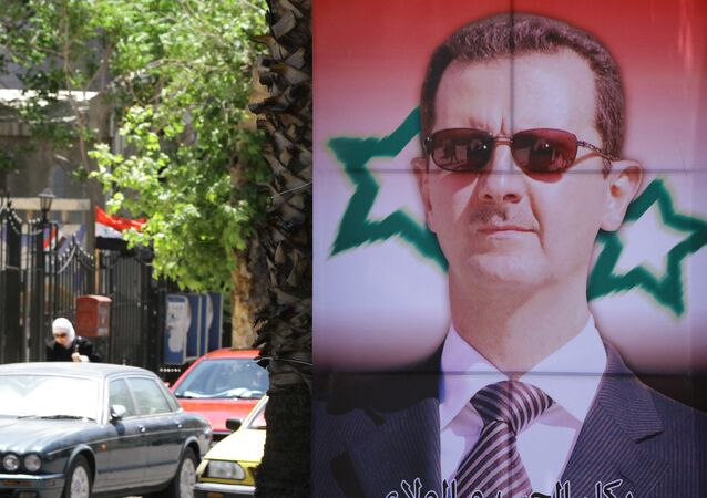 Portrait de Bachar el-Assad, image d'illustration