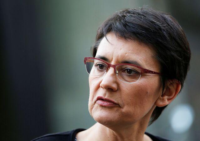 La candidate à la présidentielle française Nathalie Arthaud