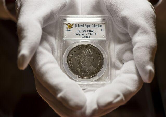 Une pièce de 1 USD datant de 1804