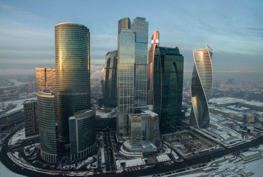Vue sur le Centre international  d'affaires de Moscou « Moscow-City »