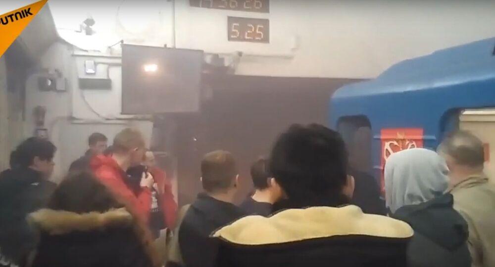 explosion dans le métro